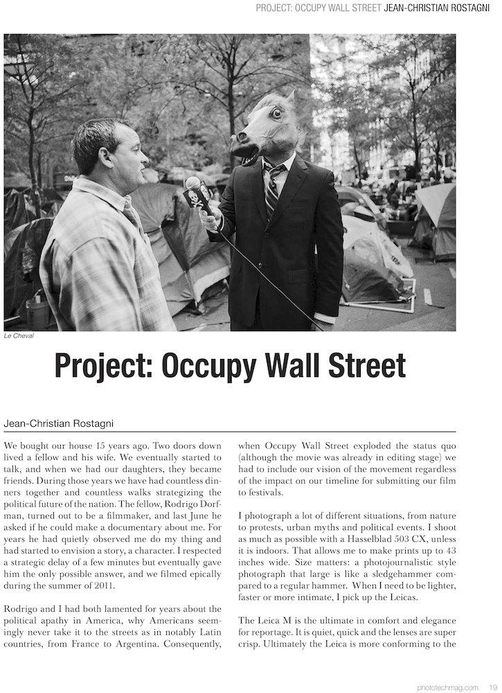 Occupy Wall Street Portfolio in Photo technique Magazine ...